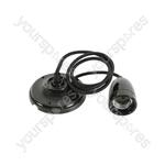 Ceramic Pendant Cord Sets E27 - - Black - CPE27-BK