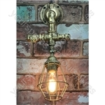 Retro Industrial Wall Light with Angled Cage - Pipe - PL-360WA