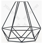 Decorative Lamp Cages - - Diamond - Black - LC-6D