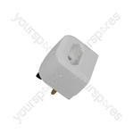 BCA Fused European Converter Plug - White - bulk - BCA3W