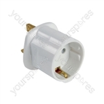 European Schuko to UK Travel Adaptor - visitor