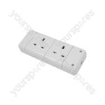 2 Gang Trailing Socket - 13A socket, bulk