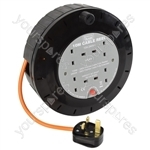 4-Gang Extension Reel with Thermal Cut Out - 10m