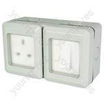 Weatherproof Outdoor Single Switch and Socket - IP55