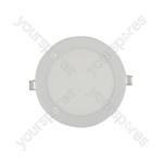 Ultra Slim LED Downlight Fittings - 160mm White Trim 12W 880lm 6000K - LED-DLW160-12CW