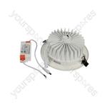 Recessed Tri-colour LED Downlights - 170mm 18W Selectable 3K/4K/6K - LED-RDL170-18TC