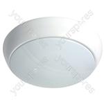 Weatherproof LED Bulkhead Surface Mount Lights - IP54 White Trim 15W 1040lm 4000K Emergency & Microwave Sensor - LED-BH325-15W4KES