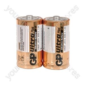 GP Ultra Alkaline Batteries - batteries, C, 1.5V, packed 2/blister