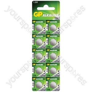 LR44 (A76) Alkaline Button Cell - 125mAh - cell, 1.5V/ LR44, 10 pieces per blister