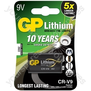 PP3 (6LR61) Lithium Battery - 9V CR-V9