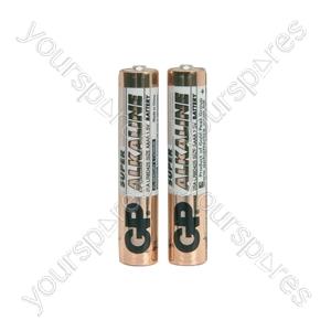 GP Super Alkaline - Battery, AAAA x 2, 1.5V