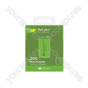 GP Recyko+ NiMH Rechargeable Batteries - 200 PP3 9V