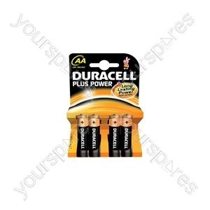 Duracell Plus Power Alkaline Batteries - AA - 4 Pack
