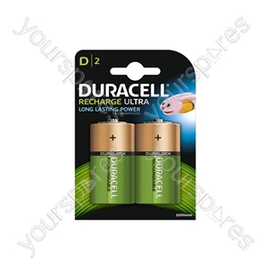 Duracell NiMH Ultra Rechargeable Battery - Card of 2