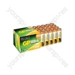 Ultra Alkaline Batteries In Easy Store Upvc Box - AA 40pk