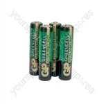 GP Greencell Zinc Chloride Batteries - batteries, AAA, 1.5V, packed 4 per blister