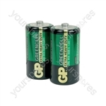 GP Greencell Zinc Chloride Batteries - batteries, C, 1.5V, packed 2 per blister