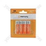 NiMH Rechargeable Batteries - AA 2800mAh battery/4 - AA28