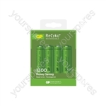 GP Recyko+ NiMH Rechargeable Batteries - 1300 AA (Card of 4)