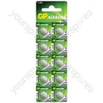 LR44 (A76) Alkaline Button Cell - 125mAh - cell, 1.5V/ LR44, 10 pieces per blister