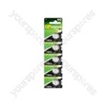 Lithium Button Cells - CR2016, 3V, 80mAh, 1.6 x 20mmØ, 5pc/card