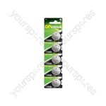 Lithium Button Cells - CR2430, 3V, 270mAh, 3.0 x 24.5mmØ, 5pc/card