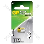 GP High Voltage Alkaline Batteries - 11A 6V battery - 1 piece blister