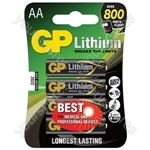 Lithium Battery - AA pack of 4