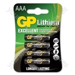 Lithium Battery - AAA pack of 4