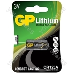 Lithium Photo Cells - cell, CR123A, 3V, packed 1 per blister - 16.8 x 34.5mm