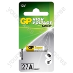 GP High Voltage Alkaline Batteries - 27A 12V battery - 1 piece on blister