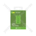 GP Recyko+ NiMH Rechargeable Batteries - 200 PP3 9V