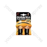 Duracell Plus Power Alkaline Batteries - 2 Pack