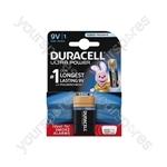 Duracell Ultra Plus Alkaline Battery PP3 - Power Pack of 1