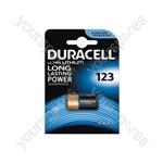 Duracell CR123 Lithium Battery