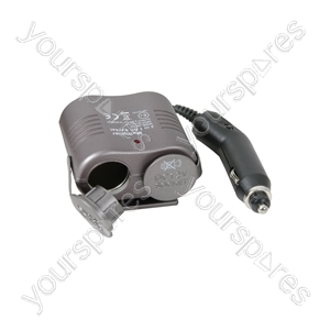 Cigar Lighter Double Adaptor - 12Vdc Dual - ICA797