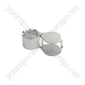 Pocket Magnifier - Folding Magnifier, 21mm Loupe, 10x, Chrome - PMS-063
