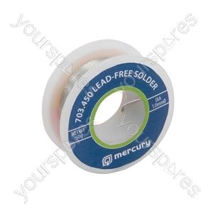 Lead-free Solder - solder, 1.0mmØ, 50g, 7.5m reel