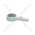 Handheld Illuminated Magnifier - Magnifier, 110mm Lens, 2 x Magnification - PMS-040