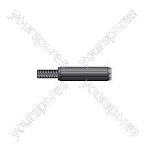 6.3mm mono in-line socket, plastic