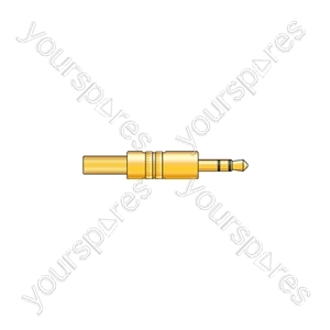 3.5mm stereo plug, gold plated