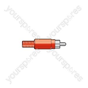 RCA plug, plastic, Yellow