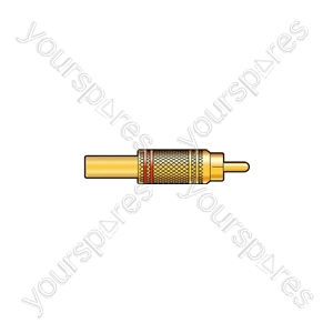 WE1209BK Gold plated RCA plug, Black