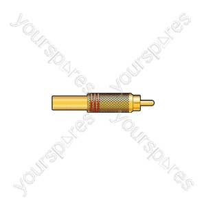 Gold plated RCA plug, Black