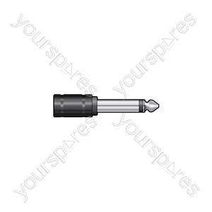 6.3mm Mono Jack Plug - 3.5mm Mono Jack Socket - WE1189A Adaptor to
