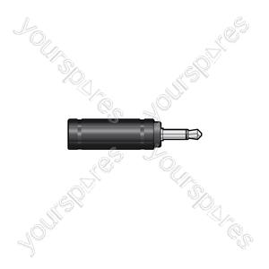 3.5mm Mono Jack Plug - 6.3mm Mono Jack Socket - WE1187A Adaptor to