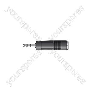 3.5mm Stereo Jack Plug - 6.3mm Stereo Jack Socket - WE1188A Adaptor to