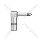 6.3mm Jack Plug - Heavy duty jack, right angle, mono