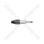 6.3mm Jack Plugs - mono plug, heavy duty, metal, Black