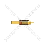 Gold plated RCA plug, Black